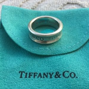 TIFFANY & COMPANY 1837 STERLING SILVER BAND RING